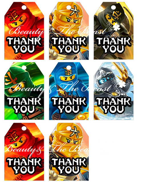 Lego Favor tags, Lego Thank you Tags, Superheroes Gift Favors ...