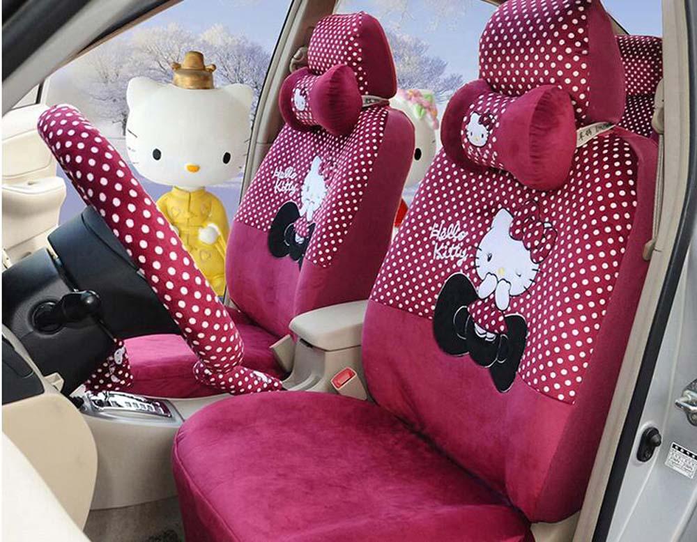 18pcs set luxury new cartoon hello kitty micro velboa - Hello kitty car interior accessories ...
