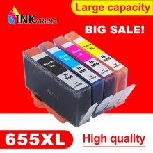 INKARENA 655XL Замена чернильных картриджей для hp 655 картридж для hp 655 с чернилами hp Deskjet 4615 4625 3525 5525 6520 6525 6625 комплект принтера