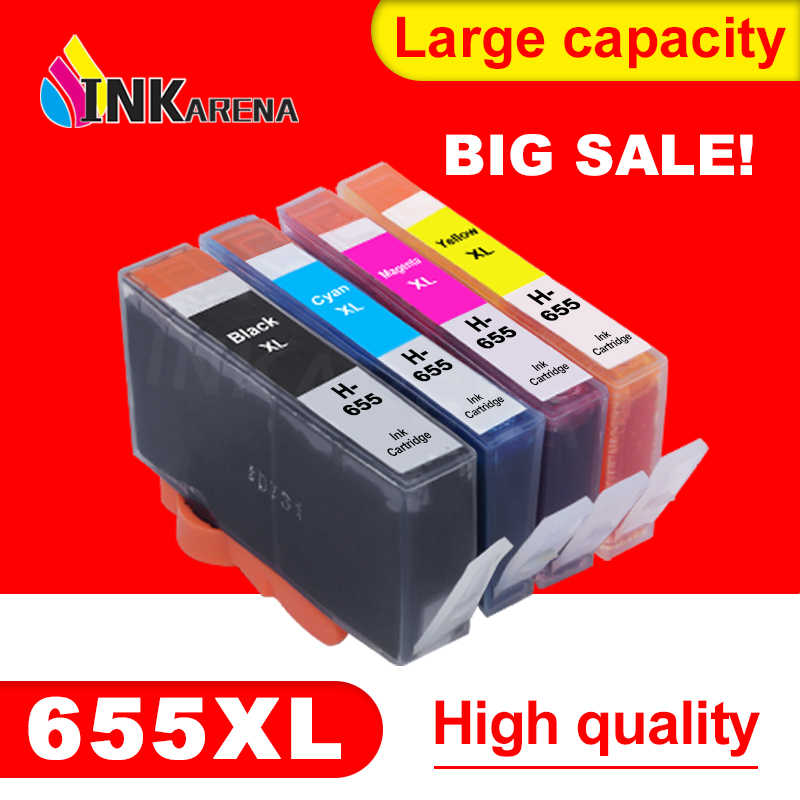 Inkarena 655XL Printer Pengganti HP655 Cartridge untuk HP 655 Deskjet 4615 4625 3525 5525 6520 6525 6625 Printer kit