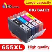 Inkarena 655xl cartuchos de tinta substituição para hp655 cartucho para hp 655 deskjet 4615 4625 3525 5525 6520 6525 6625 impressora kit