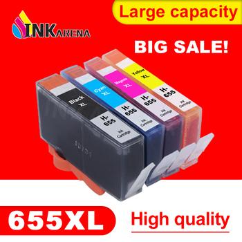 Wymiana INKARENA 655XL wymiana wkładów atramentowych dla HP655 kartridż do hp 655 Deskjet 4615 4625 3525 5525 6520 6525 6625 zestaw do drukarki tanie i dobre opinie Pełna Wkład atramentowy For HP 655 XL Ink Cartridges Kompatybilny HP Inkjet For HP655 XL Ink Cartridge Black Cyan Magenta Yellow