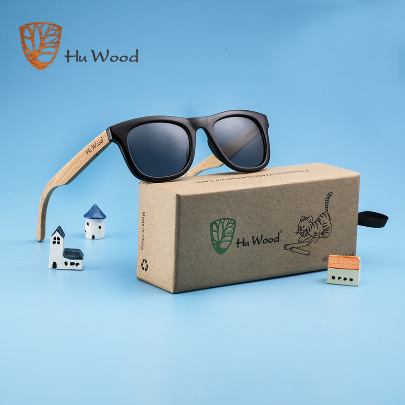 HU WOOD Brand Design Children Sunglasses Multi-color Frame Wooden Sunglasses For Child Boys Girls Kids Sunglasses Wood GR1001(China)