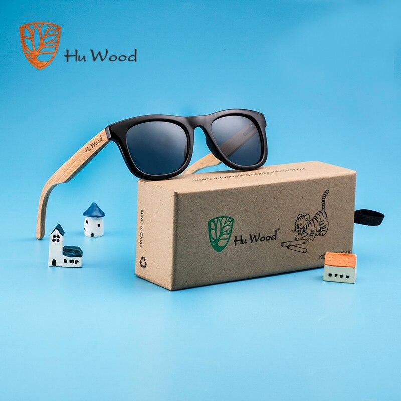 HU WOOD Brand Design Children Sunglasses Multi-color Frame Wooden Sunglasses for Child Boys Girls Kids Sunglasses Wood GR1001