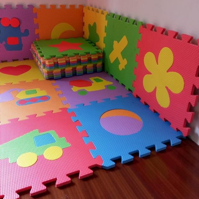10pcs Pack Baby Eva Mat Baby Floor Mat Transport Animal Fruit Eva