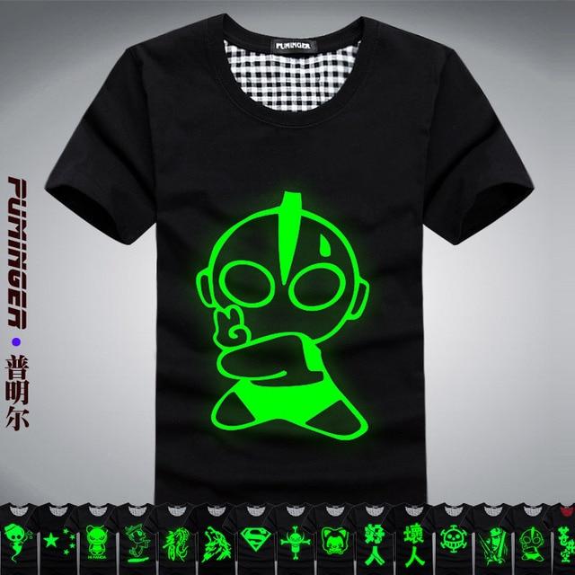 Luminous 2 short-sleeve t-shirt men and women lovers t-shirt luminous short-sleeve neon class service ottoman t-shirt