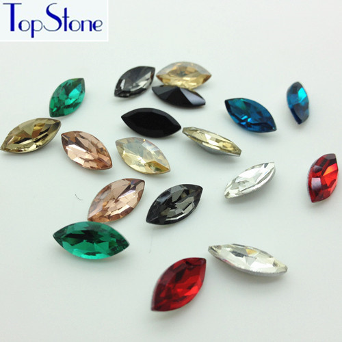 100pcs 6x12mm Small Navette rhinestones Point back Tiny Marquise Glass Crystals diy nail art stone,Dress Garment Decoration