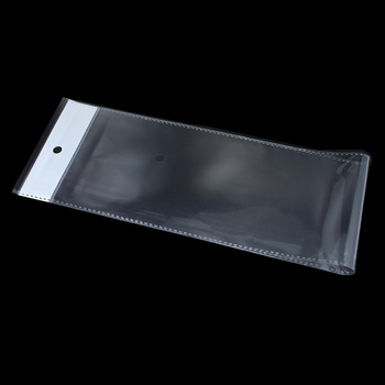 DHL Long Transparent OPP Plastic Bag Self Adhesive Seal Packaging Poly With Hanging Hole Pouch For Packaging Periwig 700pcs/lot