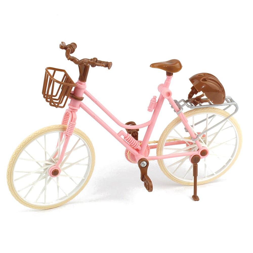Mini Simulation Bicycle Bike Doll Accessory Kids Toys Decoration Plastic Novelty Gag Toys Finger Skateboards Bikes