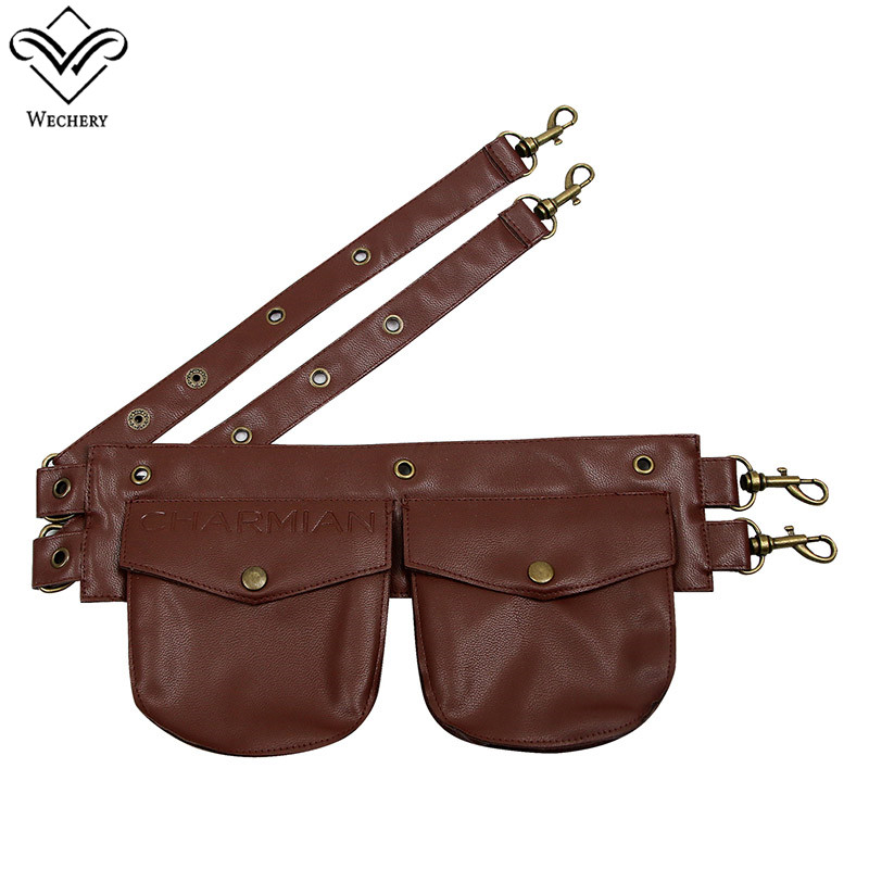 Wechery Fashion Waist Trainer   Corset   Pockets Belt for Women Steampunk Gothic   Corset   Corselet's Pouches Leather Black Brown