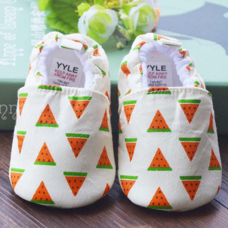 Baby Boy Girl Shoes Cute Fruit Pattern Indoor First Walkers Baby Shoes 0-12M