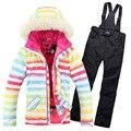 2017 Marca nova jaqueta feminina inverno baojee feminino jaquetas de esqui mulher casaco snowboard terno de esqui das mulheres de esqui de neve jaqueta desgaste