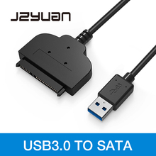 лучшая цена JZYuan USB 3.0 to SATA Cable Converter Adapter 22pin Serial ATA III to USB 3.0 Adapters For 2.5
