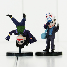 5pcs/lot Superheroes The Joker Batman The Dark Knight PVC Action Figure Keychain Collection Model Toy