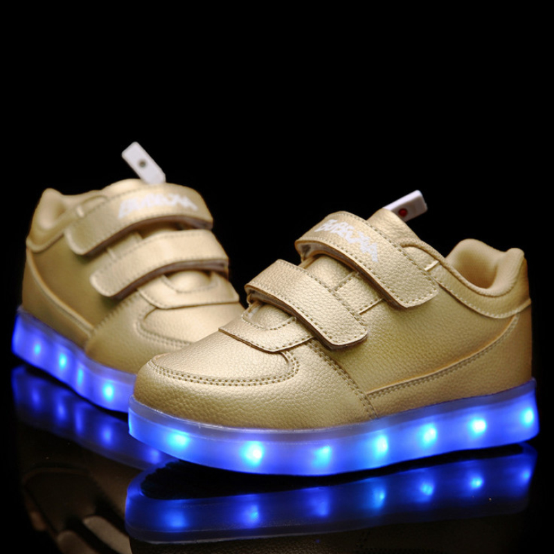 BBX Brand Children Shoes With Light Boys And Girls Casual LED Shoes For Kids Good Quality LED Light Up Usb Kids Shoes 1578-2