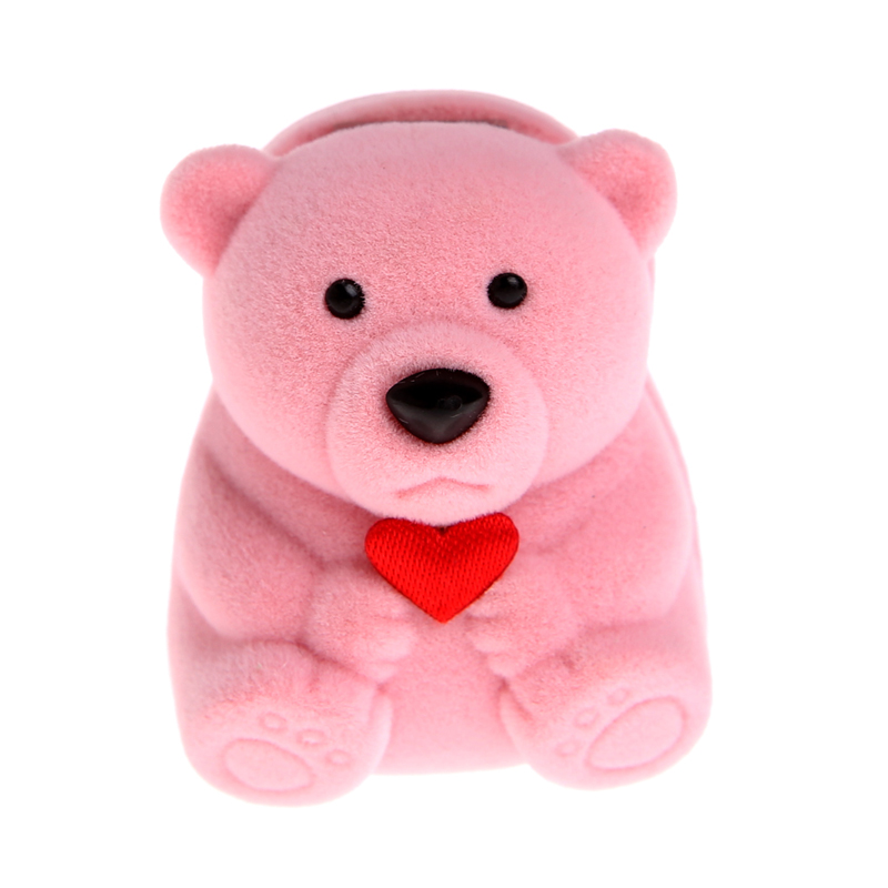 Mini Jewelry Storage Box Cute Bear Jewllery Gift Boxes For Necklace Earring Package Organizer Gifts For Girls Table Decoration