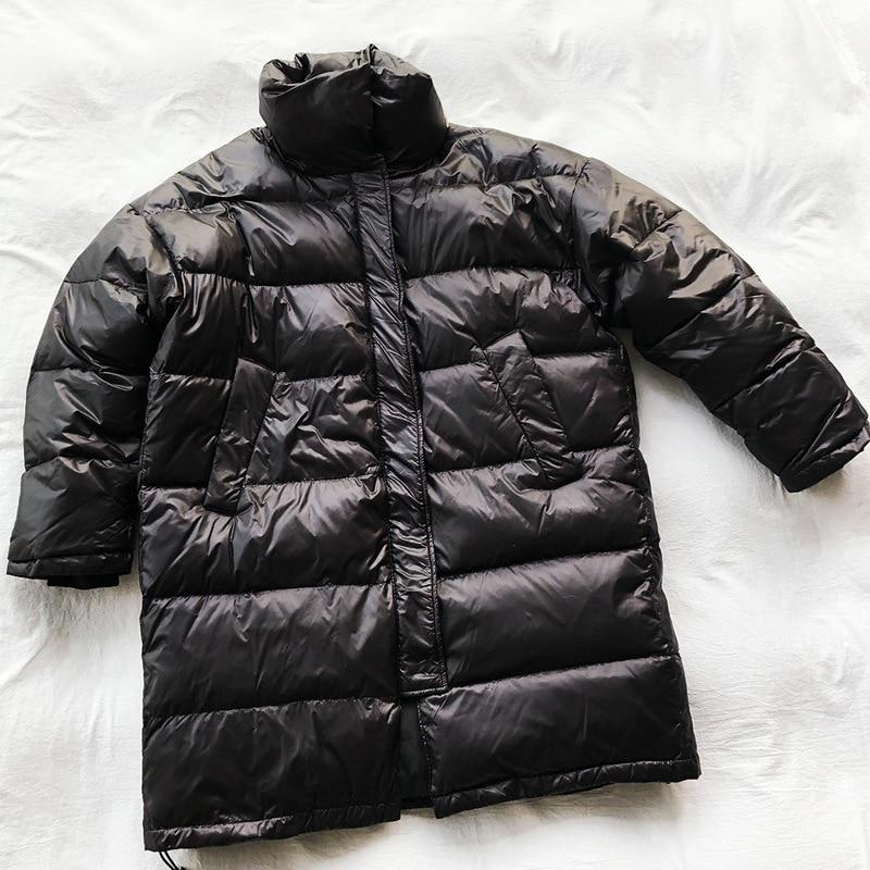 Nouveau Bas Col Longues D'oie Duvet Manteau De Femmes Blanche Épais Solide Black brown Support Vers Veste Occasionnel Pour Coton Le Couleur 6qp6rx