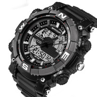 SANDA Men Sports Watches With Digital Analog Watch Army Military Waterproof Male LED Clock Relogio Masculino