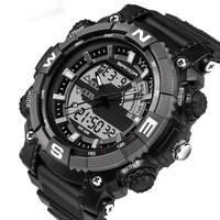 SANDA Men Sports Watches With Digital Analog Watch Army Military Waterproof Male LED Clock Relogio Masculino