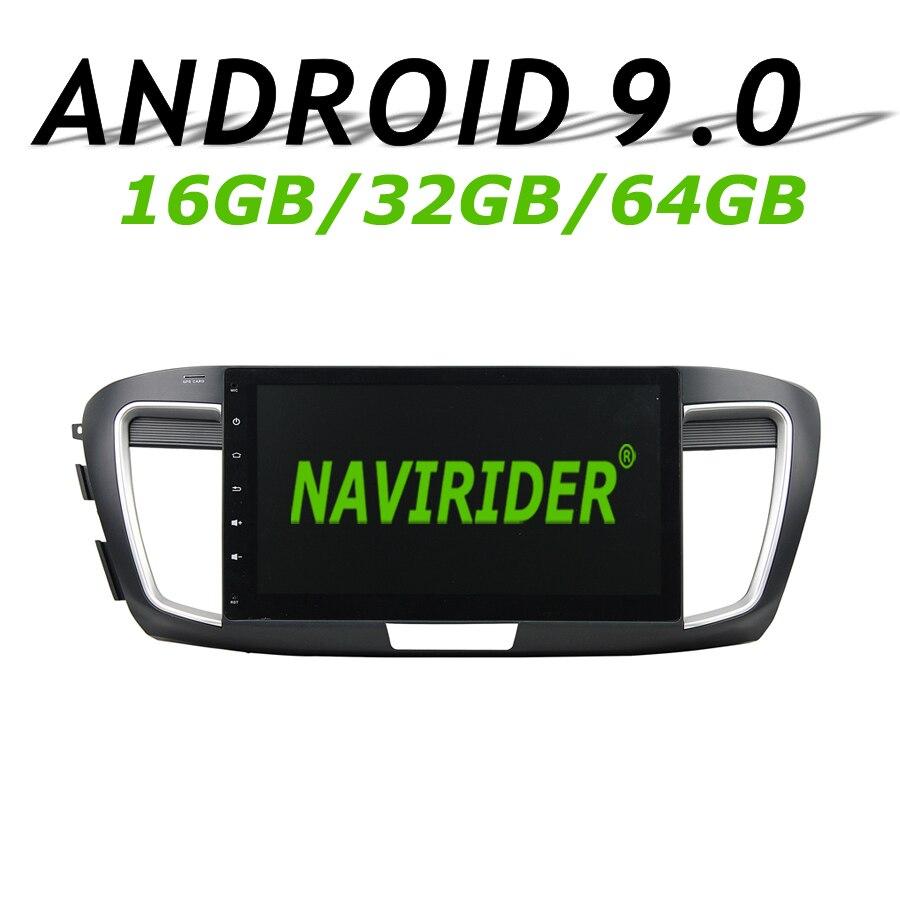 Haute configuration Octa Core Android 9.0 voiture GPS multimédia pour HONDA ACCORD 9 2015 10.1