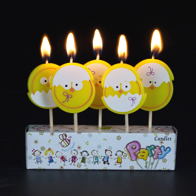 DINOSAURS Novelty Birthday Candles Set Of 5 DeKora Holiday Presents