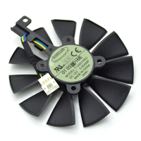 New Original Everflow 85MM T129215SU DC 12V 0 50AMP 4Pin Cooling Fan Replace For ASUS GTX980Ti