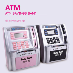 Simulation ATM Saving Banken Kinder Kinder ATM Sparschwein ATM Geld Safe mit LCD Screen Kinder Geschenk Geld Safes saving pot