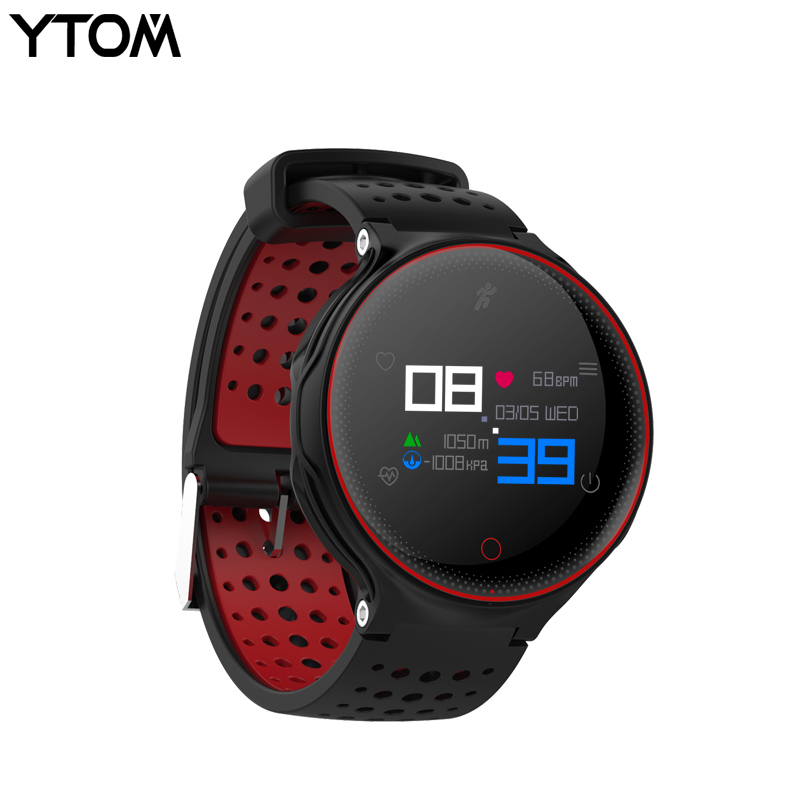 YTOM IP68 Sport Montre Smart Watch Sang Pression Fitness Tracker Moniteur de Fréquence Cardiaque Professionnel Étanche Bluetooth smartwatch