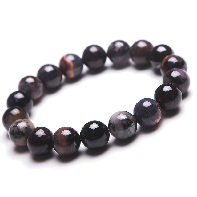 Free Shipping 12mm Natural Genuine South African Sugilite Stone Round Beads Jewelry Stretch Charm Bracelet Just One