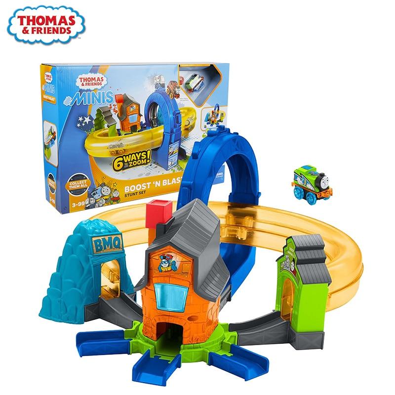 Original Thomas & Friends le Mini Train Multiplay piste à collectionner chemin de fer piste garçon jouet cadeau modèle voiture jouets pour enfants