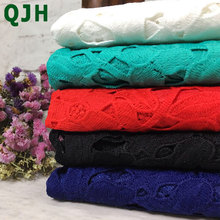 5yards/lot Wholesale Leaf pattern design water soluble lace for sewing latest high quality African guipure Milk Silk lace fabric