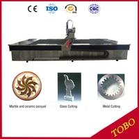 מה מכונה יכול לחתוך דרך פלדה קטן יהלומי מים waterjet cnc מכונת חיתוך למכירה