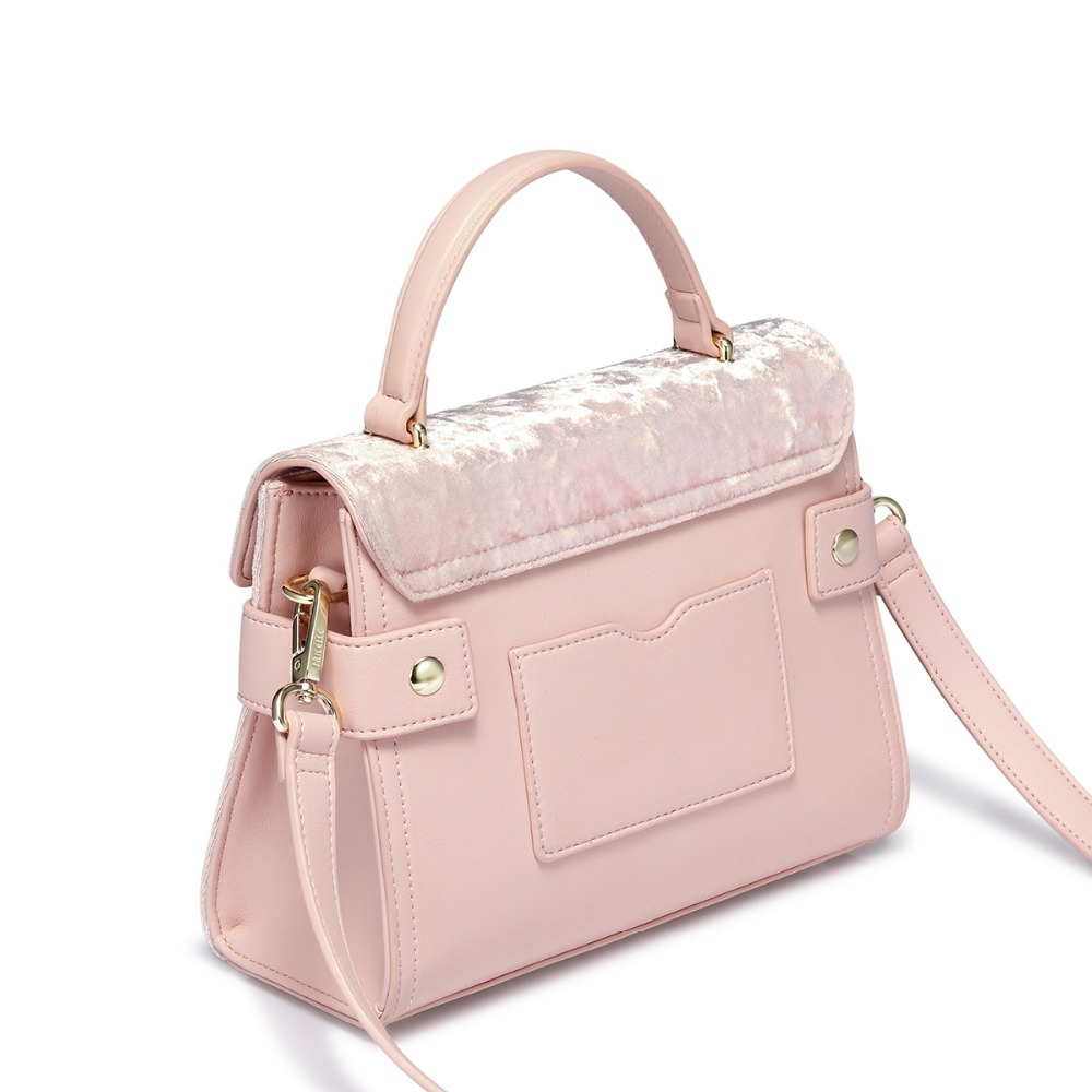 NUCELLE Women s Leather Handbags Ladies Fashion Velour Tote Purse Female  Leisure Elegant All match Pink Color Crossbody Bags-in Top-Handle Bags from  Luggage ... 1e4b2ae5bb918