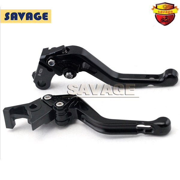 ФОТО For HONDA CB600F CB600S CB900F HORNET CBF600 N/S Black Motorcycle CNC Billet Aluminum Short Brake Clutch Levers