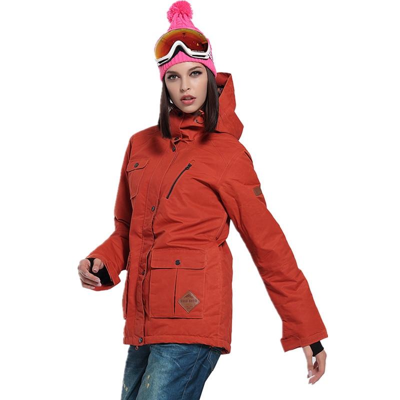 Livraison gratuite chaud imperméable femme vêtements de Ski manteau hiver veste de Ski femmes à capuche snowboard veste thermique vêtements de Ski en hiver