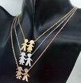 Rosa de oro/oro/plata boy & girl choker collar cadena cuerpo familia mom femme collier collares collares para de las mujeres/de los hombres de la joyería