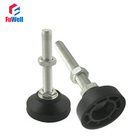 4pcs M10x60mm Adjustable Foot Cups Reinforced Nylon Base 40mm Diameter Articulated Feet M10 Thread Leveling Foot