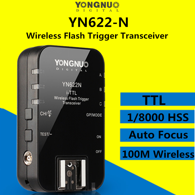 купить Yongnuo YN622N i-TTL 1/8000 HSS Wireless Flash Trigger Transceiver for Nikon Camera Yongnuo YN685 YN600EX YN560 III IV Flash по цене 2018.85 рублей