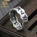 2017 Новых Прибытия Ювелирные Изделия серебряные шесть слов мантра кольцо сделать старый ретро Тайский серебряное кольцо мужчин и женщин пара кольцо (США Размер)