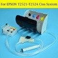T2521 - T2524 Ciss система с дуговым чипом для Epson WF-7610 WF7620 WF-7110dtw WF3640 WF3620 WF-5190WF5690 чернильные картриджи
