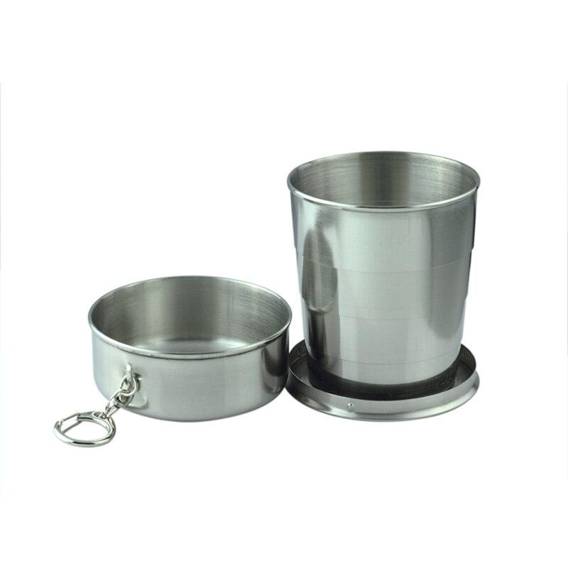 Skládací skládací pohár 60ml / 140ml / 250ml Přenosný hrnek na táboření pro pití kávy Čaj cestování Teleskopický pohár