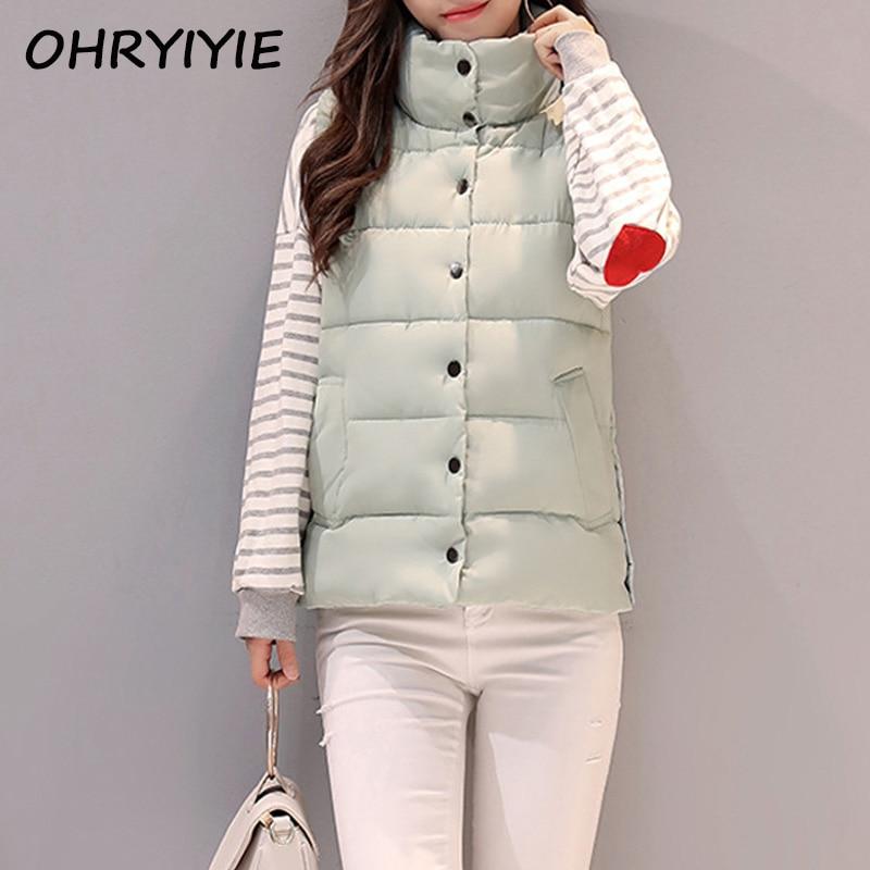 OHRYIYIE . Store OHRYIYIE Autumn Winter Vest Women Waistcoat 2017 New Women's Sleeveless Jacket Coat Cotton Padded Vest Female Colete Feminino