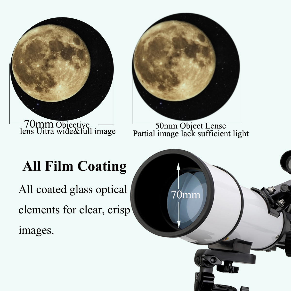 Tools : SVBONY SV501 70 mm Astronomical Telescope  Monocular Moon Bird Watching Kids Adults Astronomy Beginners      No tripod in the Package