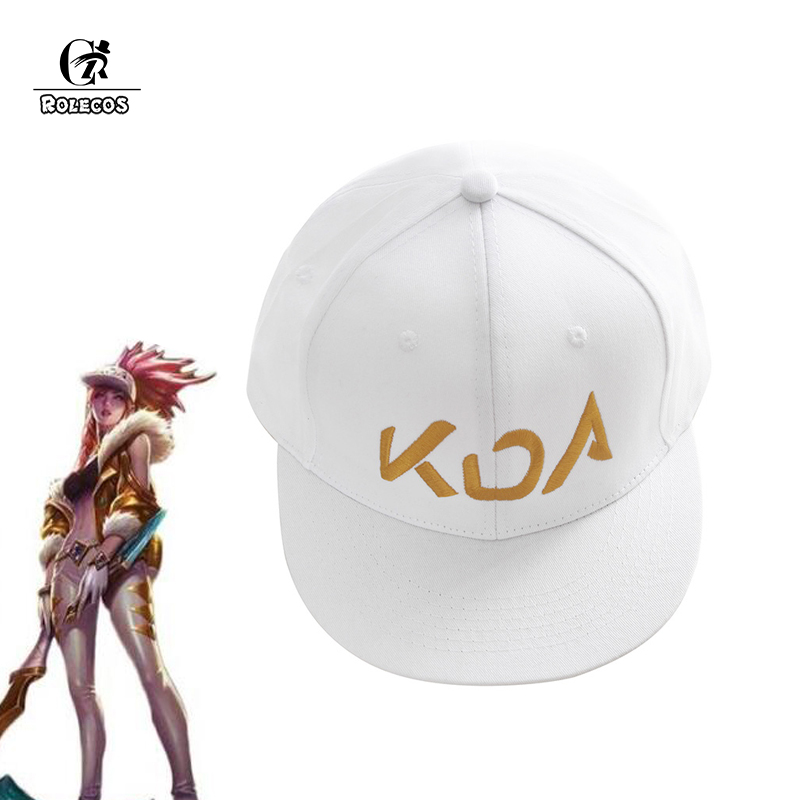 ROLECOS Game LOL KDA Akali Cosplay Hat LOL K/DA Akali Prestige Edition Hat Cosplay Props for Men Women Cosplay White Hat