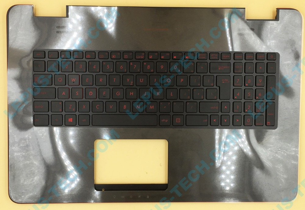 SK CZ ROYAUME-UNI Clavier Pour ASUS G771 G771JW GL771JM GL771JW clavier avec repose-poignets rétro-éclairage top case
