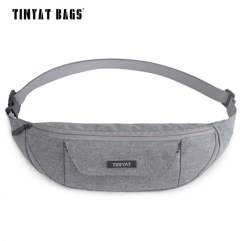 TINYAT Men Waist Pack Bag Casual Women Travel Phone Belt Bag Pouch Male Canvas shoulder Fanny Pack Bag Money Hip Pack Bum T215
