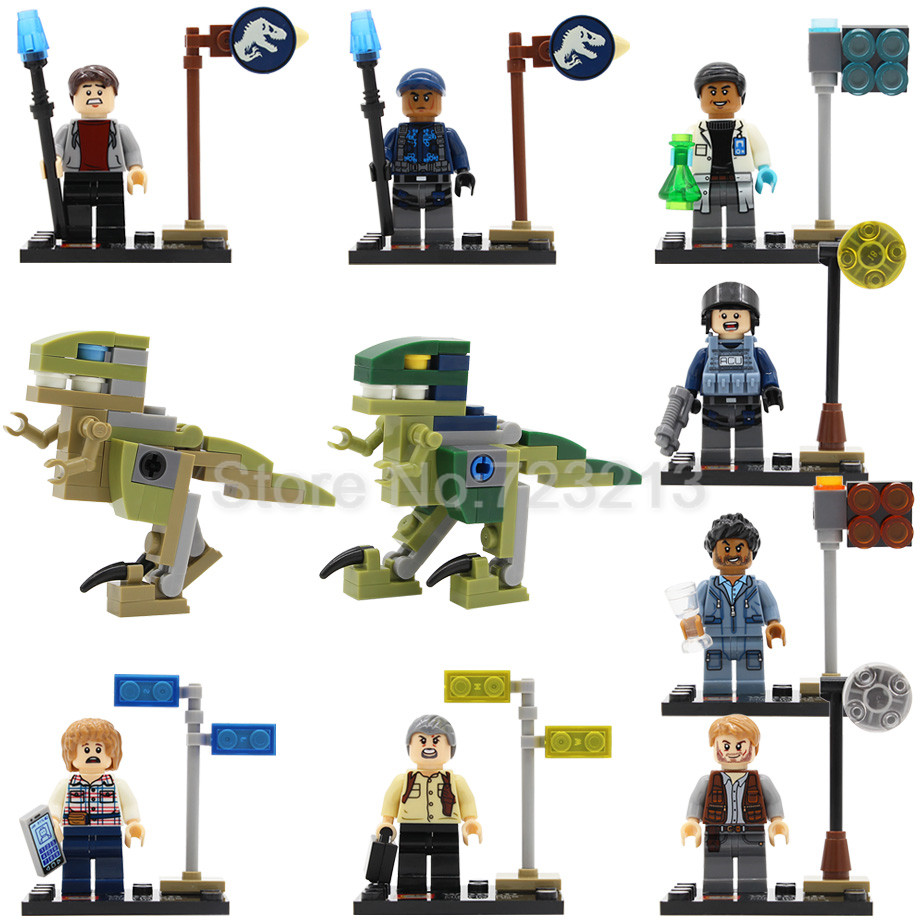 Single Sale SY280 Cartoon Movie Jurassic World Figure The Dinosaurs Bricks Building Blocks Set Model Toys single the god of war king kong movie series voltron team godmars godzilla figure building blocks model bricks toys for children