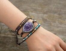 Leather Wrap Bracelet for Women