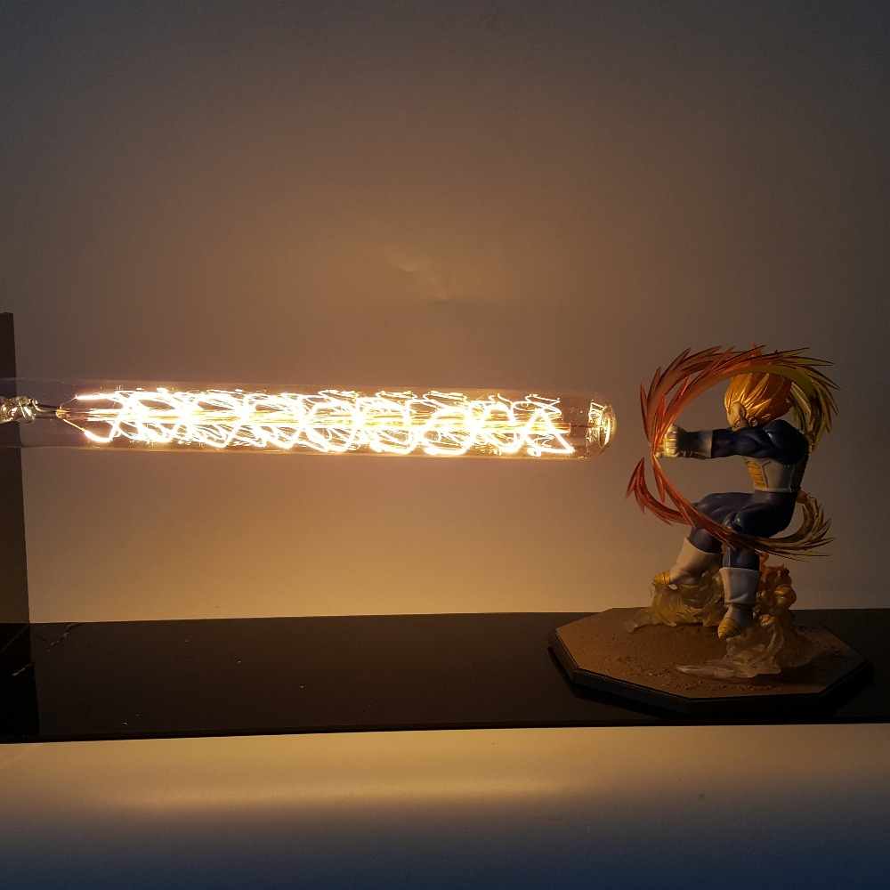 Dragon Ball Z Vegeta Super Saiyan Led Night Light Lamp Dragon Ball Lampara Son Goku Desk Lamp
