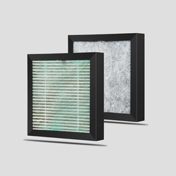 Air Purifier Filter True HEPA filter and 3 in 1 Compound filter for Nobico PM2.5 Dust Formaldehyde Pollen Odors 11.5*11.5*1.2cm